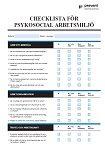 Arbetsmiljö Checklista -Psykosocial arbetsmiljö