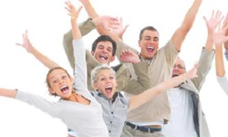 Ledarskap - bild på glada människor
