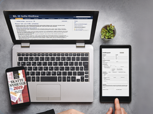 BL info online - nyhetstjänst inom ekonomi administration, produktbild