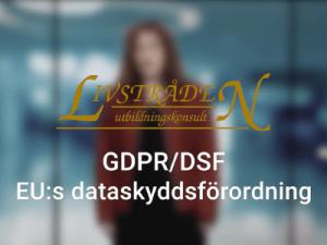 GDPR - EU Dataskyddsförordning – diplomerad utbildning online, bild web