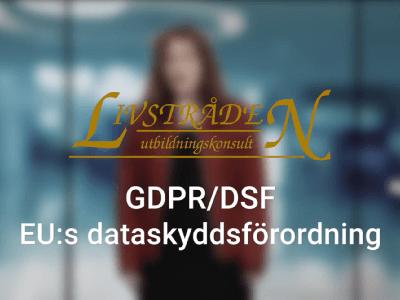 GDPR – EU Dataskyddsförordning - diplomerad onlineutbildning