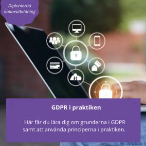 GDPR i praktiken - diplomerad onlineutbildning 2