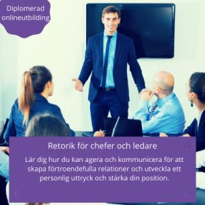 Retorik för chefer och ledare - diplomerad onlineutbildning