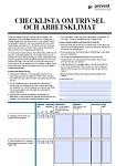 Checklista -trivsel och arbetsklimat