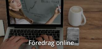Kompetensutveckling online föredrag-online navigationsbild med text