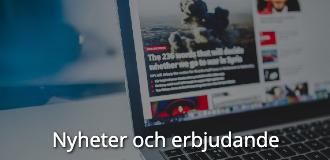 Kompetensutveckling online nyheter och erbjudande navigationsbild med text