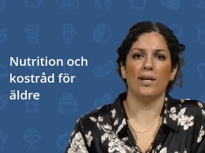 Nutrition och kostråd för äldre - onlineutbildning, vård och omsorg