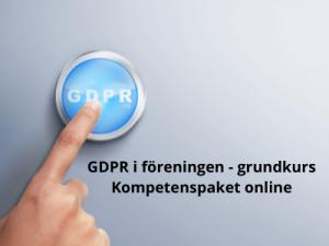 GDPR i föreningen - grundkurs - kompetenspaket online