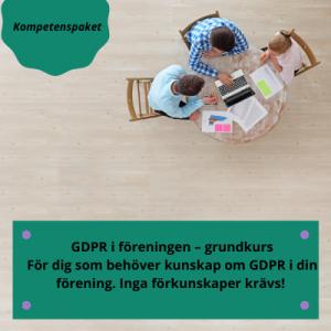 Kompetenspaket - GDPR i föreningen