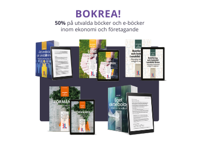 Bokrea på handböcker inom ekonomi och företagande