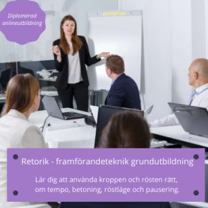 Retorik -framförandeteknik grundkurs online